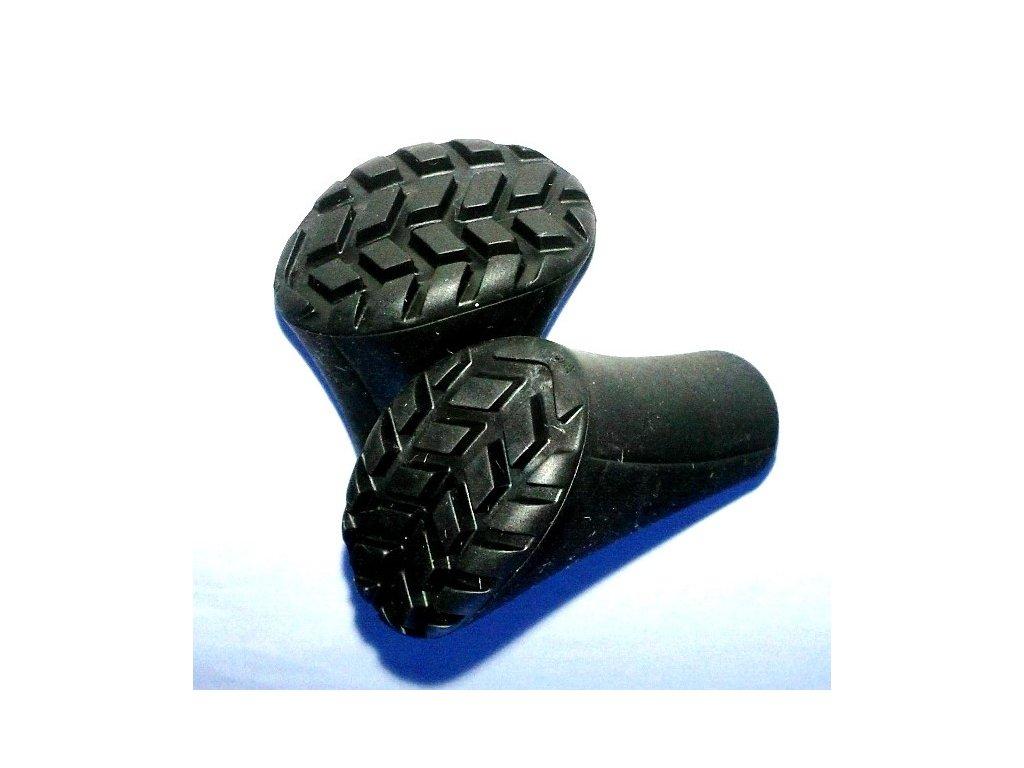 Ochranný gumový kryt na hrot nordic walking FIZAN - 1 pár